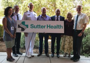 The Sutter Rural Residency Program received a U.S. grant last year and this week was accredited and is ready to screen applicants. Leaders involved in the program include, from left, Dineen Greer, M.D., program director of the Sutter Family Medicine Residency Program; Sutter Amador Hospital CEO Tom Dickson; HRSA regional administrator Capt. John Moroney, M.D; Jackson Mayor Robert Stimpson; Sutter Valley Area Chief Medical Officer Ash Gokli, M.D.; former Sutter Amador CEO Anne Platt; and Robert Hartmann, M.D., longtime Amador County internal medicine physician and an instructor in the Rural Residency Program.