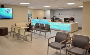 Sutter CPMC's new Center for Women's Health Care patient waiting room