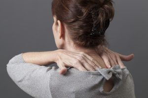 self-massage for relaxing neck shoulders and back from tension