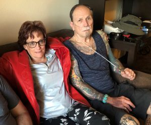 Christine and Jesse before both received the endobronchial valve procedure. (2019)