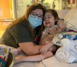 Mother and cystic fibrosis child