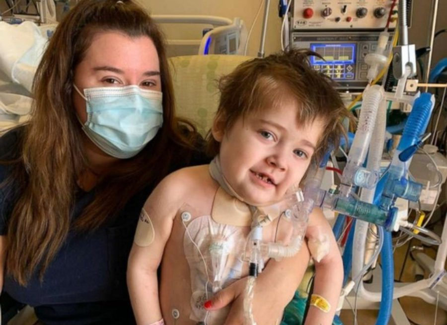 Mother with hospitalized child