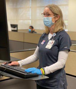 Nurse at workstation