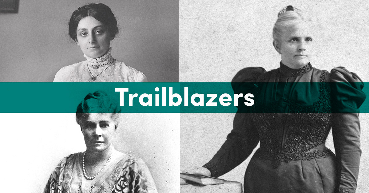 Collage of three women hospital founders