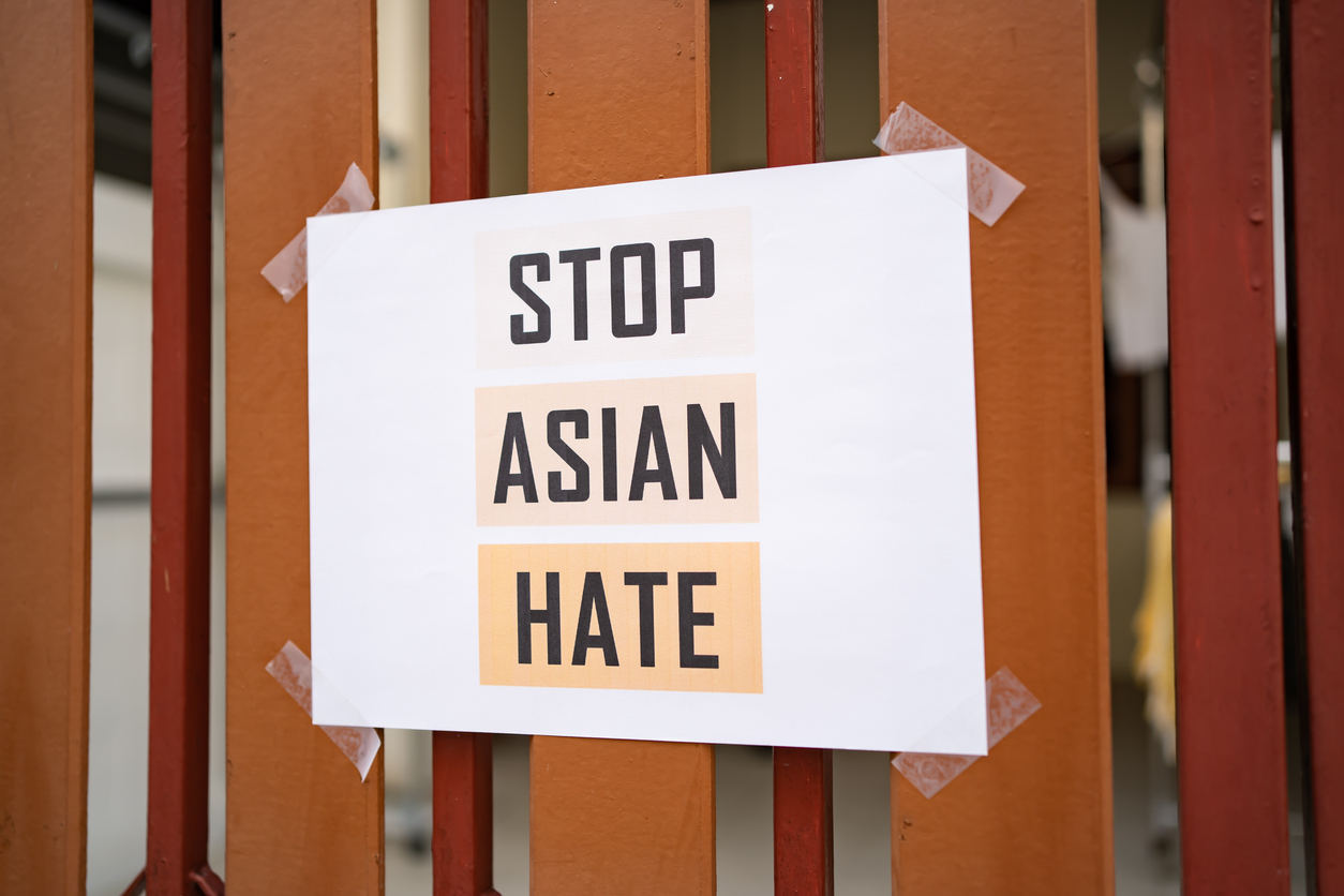 Sign that reads Stop Asian Hate