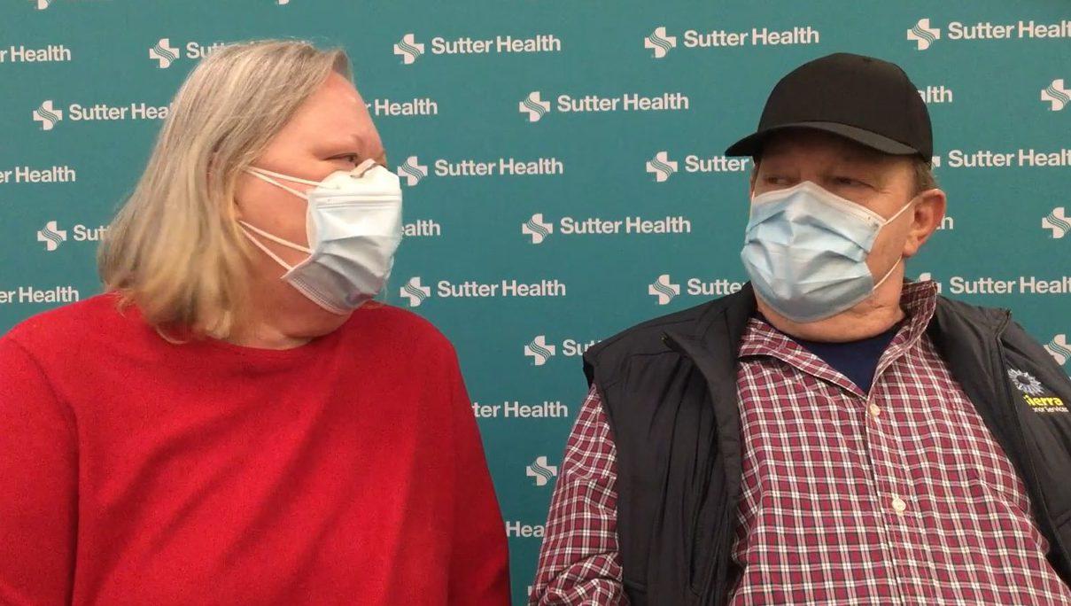 Married heart transplant couple