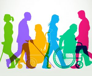 Illustration of people with various disabilities