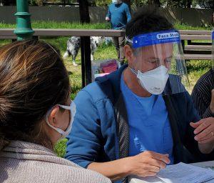 Doctors vaccinating communities