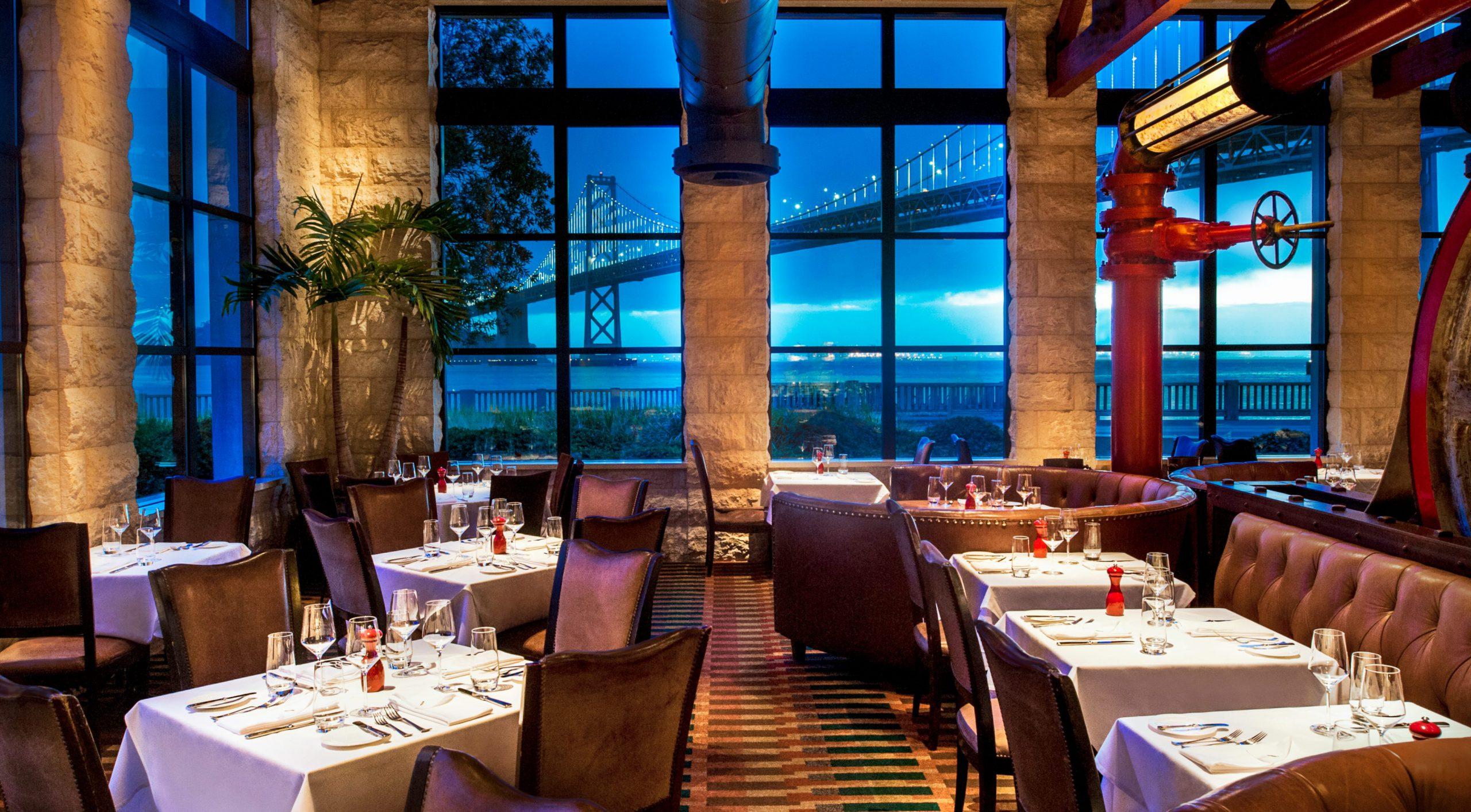 Restaurant with Bay Bridge in Background