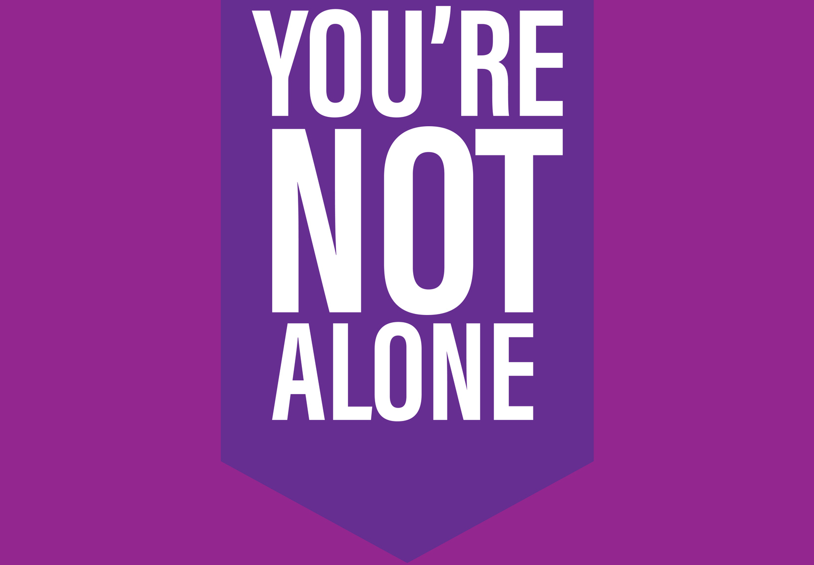 Suicide Prevention Month design concept featuring purple backgrounds and white text